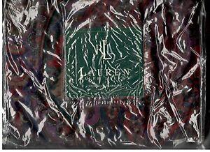 Ralph Lauren Socialite Paisley Multi Burgundy Blue Green King Bed Skirt New