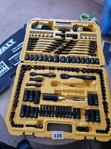 DEWALT 181 Piece Black Chrome Mechanics Tool Set in CarryCase (7 pieces missing)