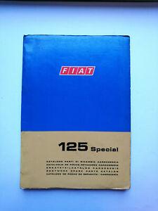 Fiat 125 Special org.. Ersatzteilkatalog Karosserie parts catalog 1970