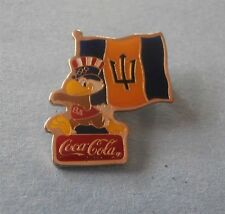 Sam Holding Barbados Flag Coca-Cola 1984 Sponsor Olympic PIN