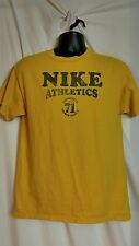 Men's Nike Athletics Vintage Yellow Cotton T-shirt Sz M