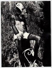 NUDE WOMAN VEILED FACE Astract Fantasy AKTFOTO SCHLEIER * Large 60s Photo #1