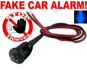 Blue Flashing 5mm LED Dummy Fake Car Van Security Alarm Dash Mount 12v LED