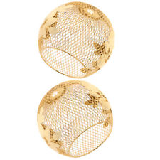 2 Pcs Iron Gold Lamp Shade Chandelier Shade Ceiling Light Cage Pendant Shade