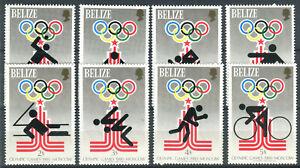 Briefmarken Belize 1979 ** postfrisch Nr: 432 - 439 A + B + Block 10 - 11 BR149