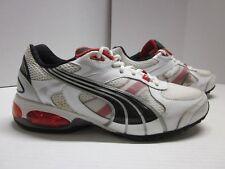143b29b7287e PUMA Cat Cell Running Shoe Sneaker White Black Red Men s 7US 39EUR 6UK W s  ...