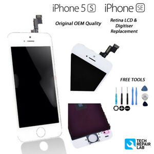 NEW Original Retina LCD & Digitiser Touch Screen Assembly FOR iPhone 5S SE WHITE