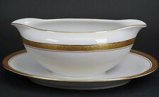 Hutschenreuther Classic Gold Embossed Flower Leaves Band Gravy Boat