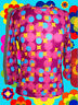 154✪ funky Disco Dancing groovy 60er 70er Jahre Shirt Psychedelic Pop Art pink