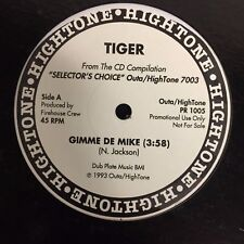 "TIGER GIMME DE MIKE/SHAGGY WONDER & MICKEY SIMPSON OLE PAN SOUND 12"" PROMO 1993"
