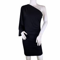 Tart Jersey One Shoulder Dolman Sleeve Bodycon Little Black Dress LBD Medium