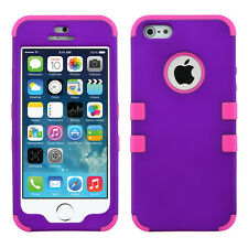 For iPhone 8 Plus 7 Plus X 4 5S 6S Shockproof Hybrid Rubber Protective Hard Case