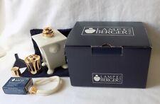 LAMPE BERGER CERAMIC CATALYTIC BURNER, FRAGRANCE OIL LAMP. UNUSED, ORIGINAL BOX