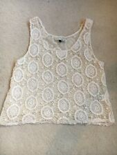 RIVER ISLAND: Cream Embellished Cami Top