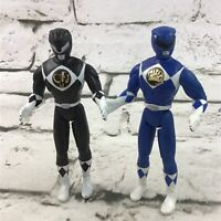 Vintage 1995 Mighty Morphin Power Rangers Black And Blue Action Figures Lot Of 2