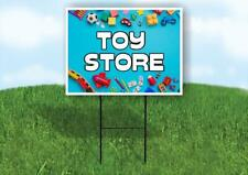 Toy Store Blue Background Yard Sign Road With Stand Lawn Sign