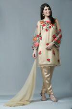 Eid Pakistani Designer Stitched 3 Piece Suit (Shirt,Trouser, Dupatta) Size 10-20