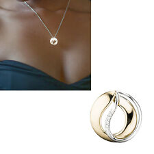 44821 Anhänger 585 Gold Gelbgold Weißgold Bicolor 5 diamanten brillanten Goldanh