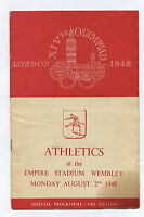 Orig.PRG    XIV.Olympic Games LONDON 1948  /  02.08.1948 - ATHLETICS  !!    RARE