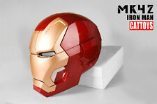 Cat Toys Iron Man MK42 Cosplay Mask Helmet LED Lighting 1:1 Wearable Manual Open