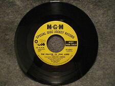 "45 RPM 7"" Record The Prayer Of Our Lord & Theme From King Of Kings Promo K13047"