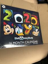 Disney Calendar 16 Month Collectible 2019-20 New