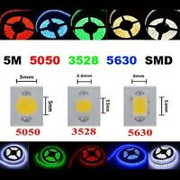 Waterproof 5M SMD 3528/5050/5630 300 LED RGB/Cool white Flexible Strip Light 12V