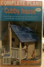 Woodworking Cubby House paper plans. New and sealed . Free post.