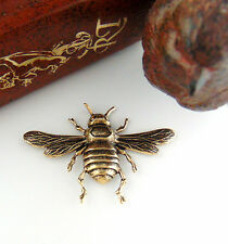 ANTIQUE BRASS(2 Pieces)  BEE Stamping - Findings ~ Brass Stamping (FA-6024) *