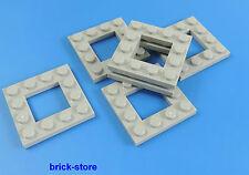 LEGO / 4x4 plaques gris clair avec trou / 6 pièce