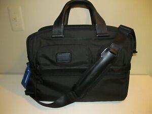 TUMI Alpha LG Black Expandable Laptop/Business Organizer, Multi Compartment