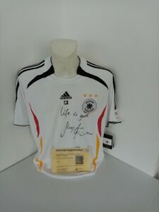 Allemagne Maillot Klinsmann Signé DFB adidas Autographe Football WM 2006 Neuf L