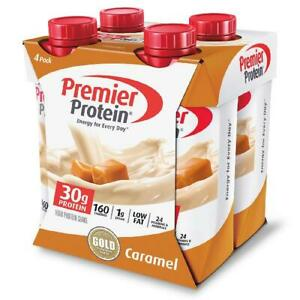 Premier High Protein Shake Caramel 30g Protein Energy Drink Shake 4 Pack 11 Oz