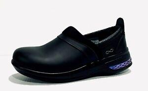 *NEW* INFINITY Cherokee 'Stride' Duo Cloud Black Leather Nursing Shoes. Sz 7.5