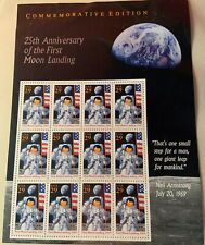 US Stamps- 12 PANES OF THE 25th ANNIVERSARY 'FIRST MOON LANDING' STAMPS MNH