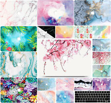 """For Macbook Pro 13"""" 15"""" in 2019 , Flowers/Marbles Hard Shell Case Mac Cover DR"""
