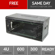 4U Server Rack Network Cabinet 19 inch 600 x 300mm Black