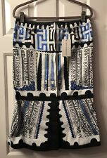 Mary Katrantzou Printed Denim Skirt Size 10