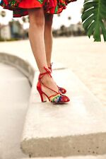 Miss L-Fire Paloma Heel in Rainbow, UK size 36