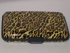 Ladies Aluminum Wallet CHEETAH Print RFID Blocking NWT Holds 12 Credit Cards New