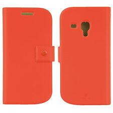 FENICE Diario Samsung Galaxy S III Mini Premium Italian PU Leather Case - Orange