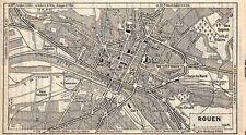 ROUEN PLAN DE LA VILLE 1955 MAP