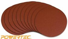 POWERTEC 110290 6-Inch PSA 80 Grit A/O Sanding Disc, Self Stick, 10-Pack