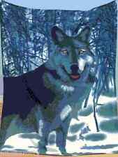 Northwoods Woodland Animal Wolf Fleece Throw Decorative Accent Blankets Decor
