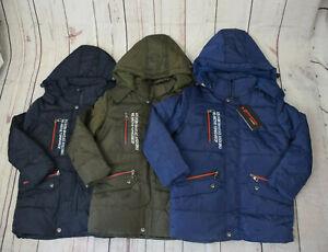 Kinder Jacke Neu Jungen Parka 116 - 140 Kinder Winterjacke Jungen Anorak Jacke