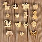 10/50/1000pcs Wood Buttons Natural Wooden Button Sewing and Scrapbooking HOT