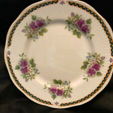 "Elizabethan English Bone China Luncheon Plate ""Cambridge"" Pansies/Yellow Flowers"