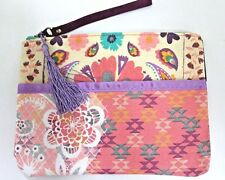 Mead Flower Print Pencil Accessory Pouch Bag Case Tassel Multicolors
