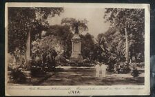 1927 Java Netherlands Indies RPPC Postcard Cover To USA Monument Those Who Fell