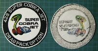 429 SCJ SUPER COBRA JET EMBROIDERED PATCH PATCHE-DRAG RACING-MUSTANG - TORINO